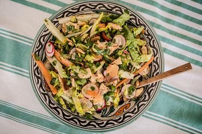 Toasted bread salad