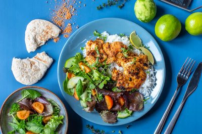 Peri Peri Chicken with rice and pita